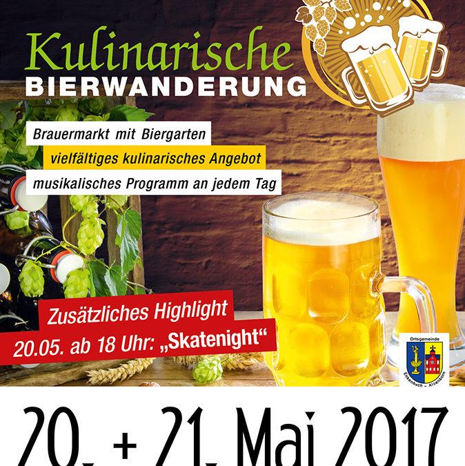 Die Handballteufel bei der kulinarischen Bierwanderung in Enkenbach-Alsenborn