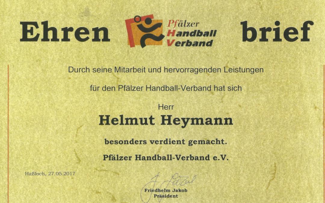 Helmut Heymann erh?lt den Ehrenbrief