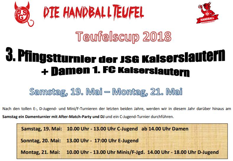 Einladung zum 3. Pfingstturnier der JSG Kaiserslautern