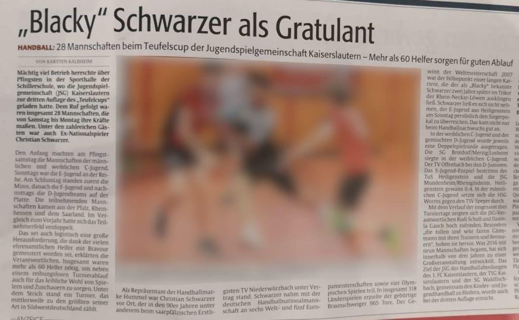 Berichterstattung der Rheinpfalz in der Ausgabe Nr. 118 vom 24. Mai 2018 mit freundlicher Genehmigung von K. Kalbheim