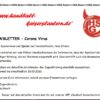 Newsletter wegen Corona Virus