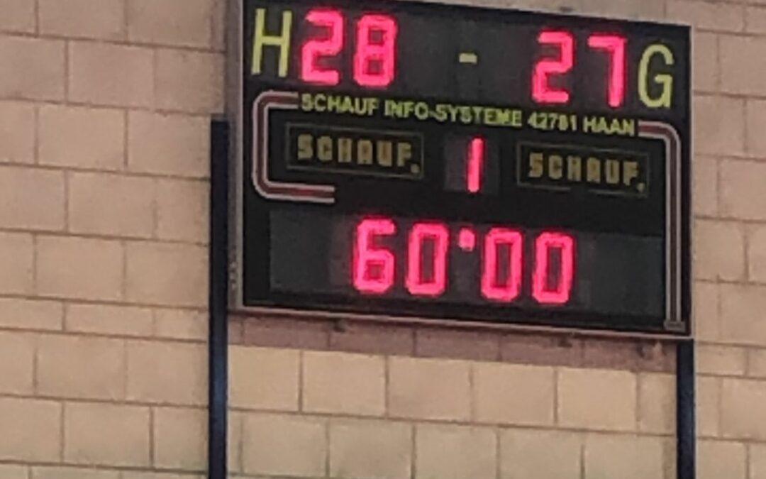 Kämpferische Leistung der 3. Herren HSG 3 gegen Niederfeld 28:27 (12:12)
